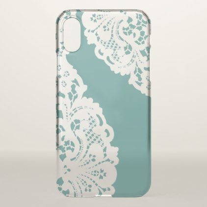 Elegant Vintage White Lace iPhone X Case - girly gift gifts ideas cyo diy special unique