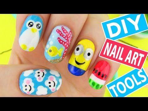 cinque nail art per l'estate! #nails #nailart #tutorialnailart