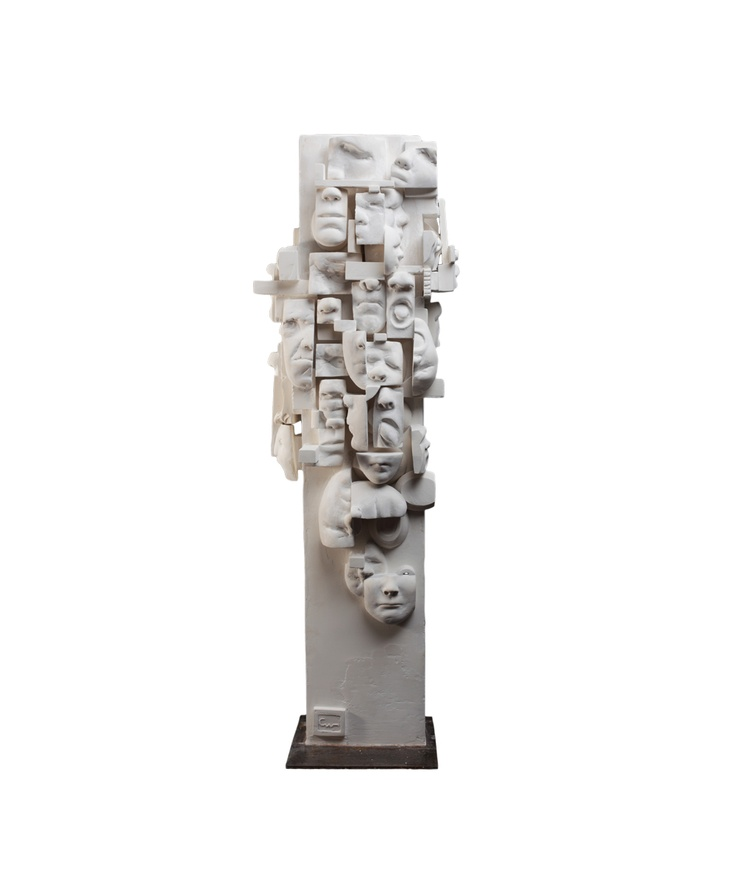 Babel, sculpture en plâtre de Catherine Webb chez LESSisRARE.fr blanc