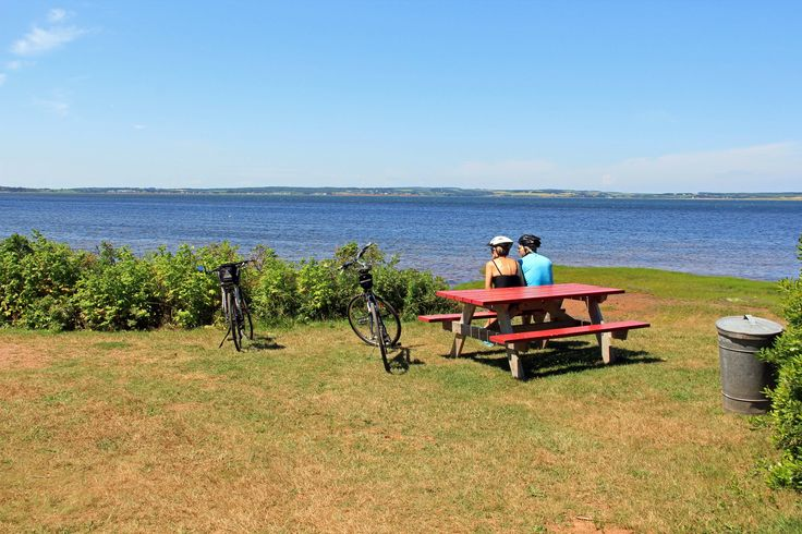 PEI National Park-Homestead Trail: When the woods that line the start of this trail give way to expansive views of New London Bay, everyone stops and takes a few moments to appreciate the scenic beauty.