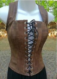 Brown leather corset. That is what I want.
