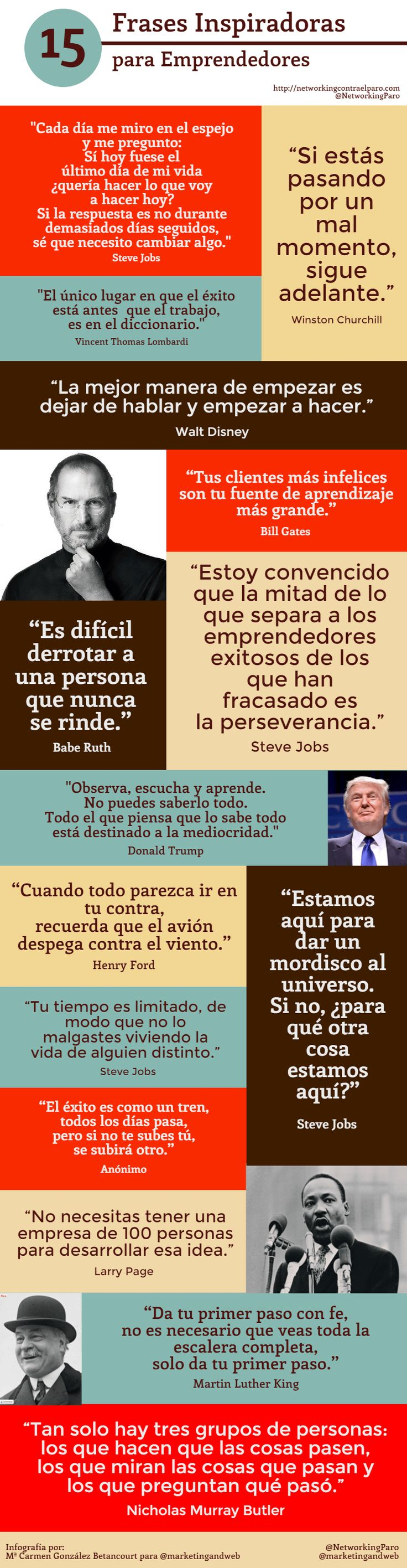 15 Frases motivadoras para emprendedores by @NetworkingParo via @marketingandweb
