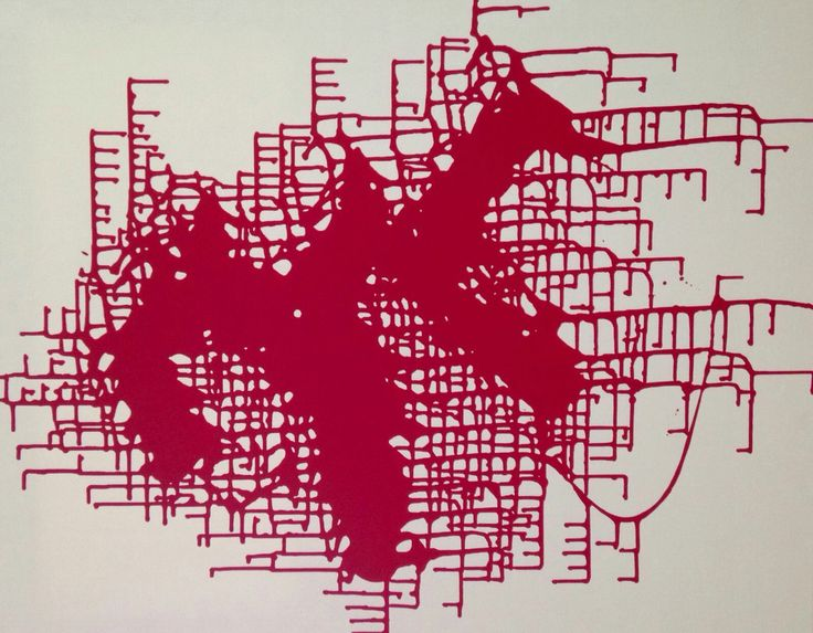 By Maite Grau. Red. Abstract. Contemporary art.