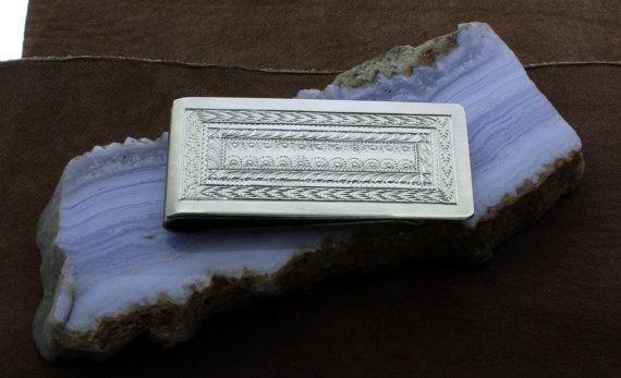 Men's Gift  Silver money clip  Western jewelry  by McFarlinsStudio