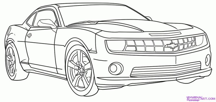 how to draw a race car | How to Draw a Camaro, Step by Step, Cars, Draw Cars Online ...