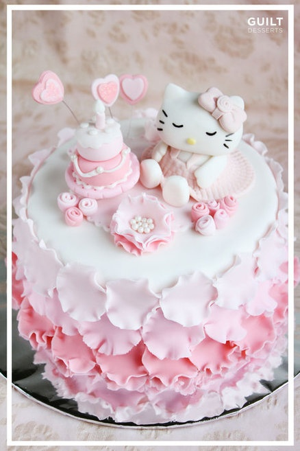 Hello Kitty Cake  Cake by guiltdesserts