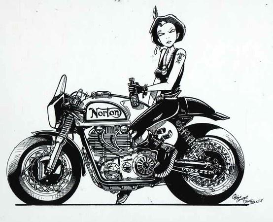 Jamie Hewlett's Norton #design #motorcycles   caferacerpasion.com