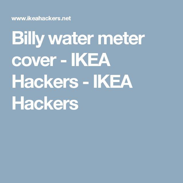 Billy water meter cover - IKEA Hackers - IKEA Hackers