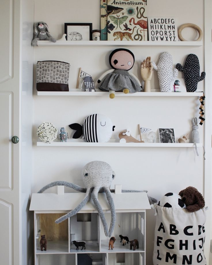 5756 best little decor images on pinterest child room for Kids room shelves
