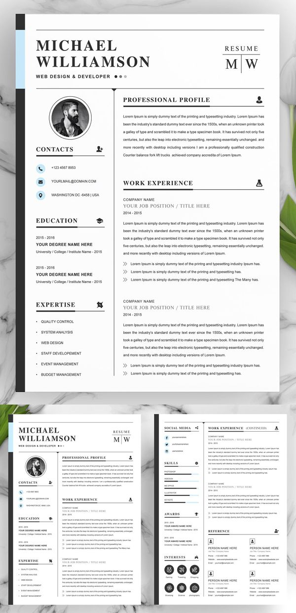 2020 Best Resume Templates in 2020 Best resume template