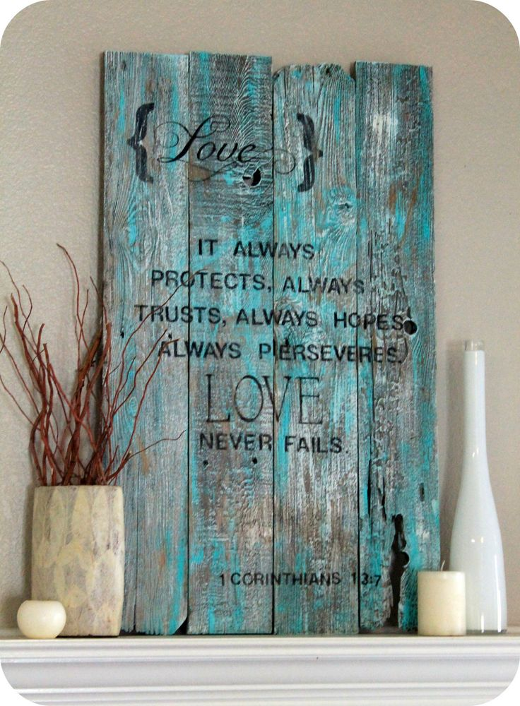 VINTAGE WOOD SIGN Old Wood Sign Primitive by baybeedahlboutique. $89.99, via Etsy.