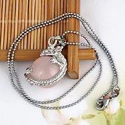 guirlande draak hangende roze edelsteen hanger legering ketting (1 s... – EUR € 6.99