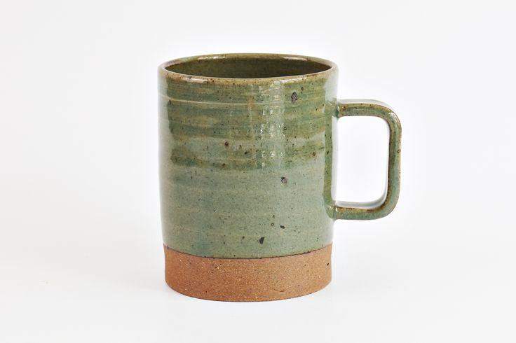 rectangle mug green