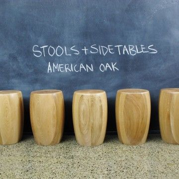 American Oak Stools /Occasional tables