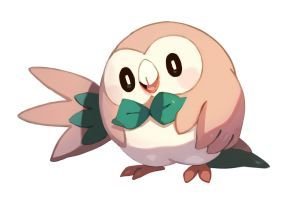 Rowlet... I'm stoked for a grass flying type that your can evolve
