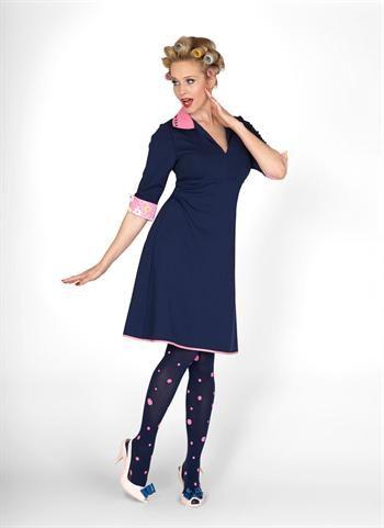 Margot kjole Pepper Express 00585 navy kjole - hos denckerdeluxe