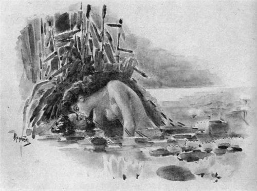 Русалка  Mermaid - Mikhail Vrubel, c.1891