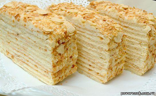 торт творожный рецепт наполеон