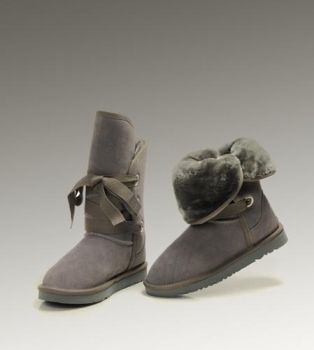 UGG Roxy Short 5828 Grey Boots For Sale In UGG Outlet - $104.04