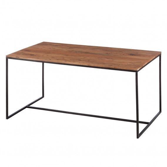 Esstisch Woodson Akazie Massiv Eisen Table Rectangulaire Bois Table Salle A Manger Meuble Bois Massif