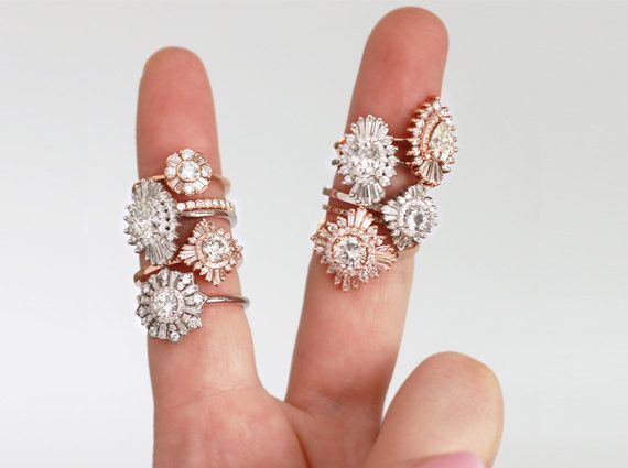 Rose gold rings for engagements, anniversary rings, holiday gifts or just everyday! Our picks for 10 rose gold engagement rings!