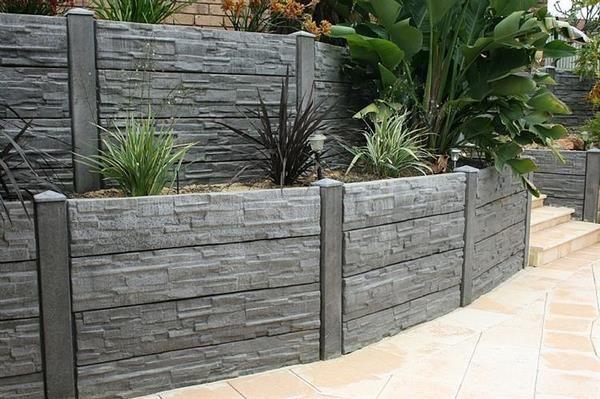 Inexpensive Concrete Retaining Wall Hill Landscaping Garden Wall Ideas Backyard Retaining Walls Landscaping Retaining Walls Concrete Retaining Walls