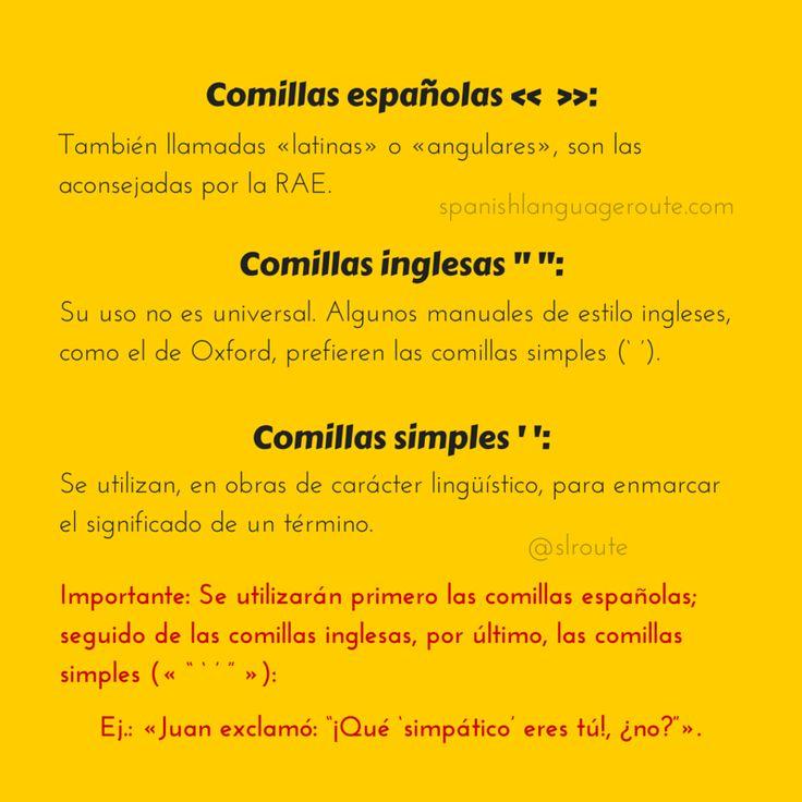 El uso de las comillas en español y su jerarquía.