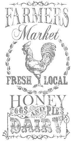 Prima Marketing 655350815523 Decor Transfer-Farmers Market