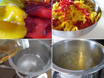 kuchnia pod wulkanem: conserve (przetwory) papryka słodko-kwaśna w oliwie
