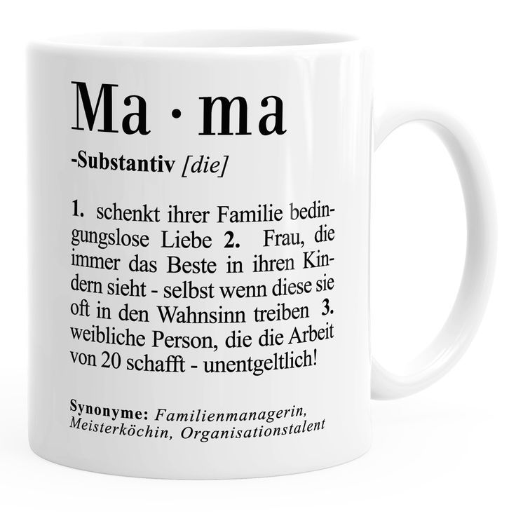 Coffee Mug Mama Definition Dictionary Dictionary Duden Gift For