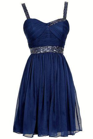 Vestido azul asi todo bonito :33