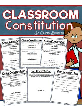"""Fun """"Create a Classroom Constitution group activity!"""""""