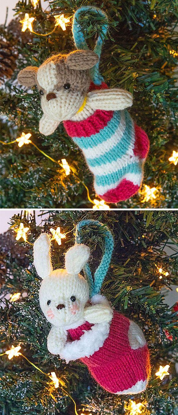 Padrões de tricô grátis para cachorro ou Bunny em ornamentos de estoque - ...
