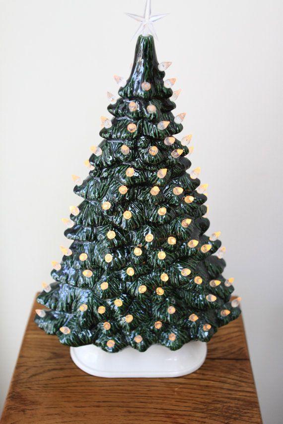 christmas tree ceramic green - Christmas Tree Base