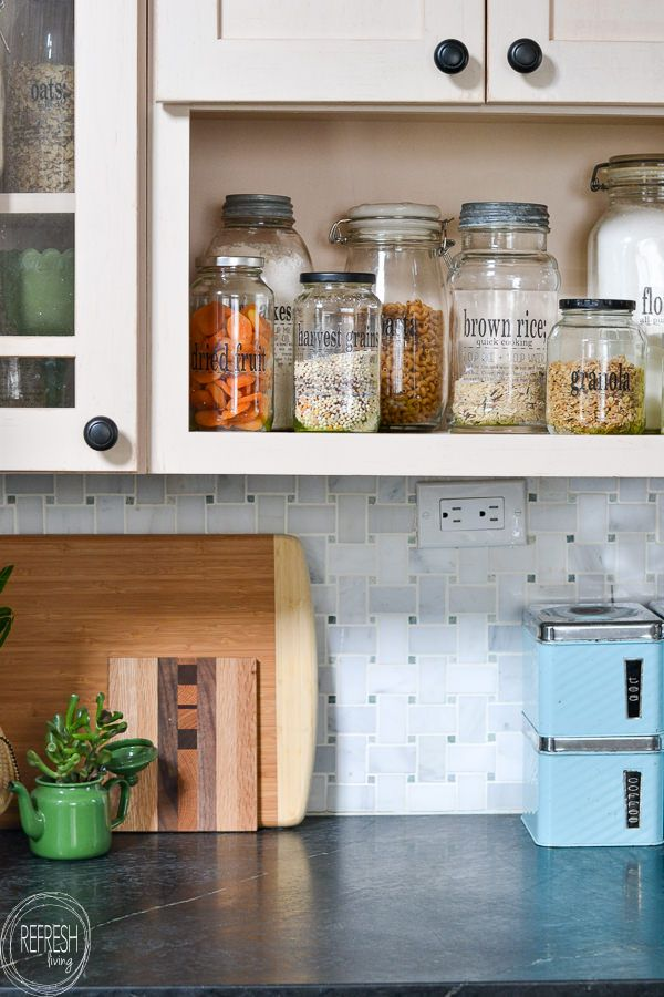 Reuse Old Glass Jars For Bathroom Organization Refresh Living Pantry Jars Diy Pantry Labels Diy Pantry