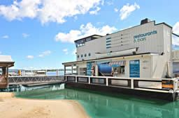 Boathouse Waterfront Restaurant Noosaville :: Floating Restaurant and Bar Noosa River Sunshine Coast Queensland  www.noosaviplimousines.com airport transfers to your accommodation, wedding, restaurant
