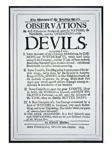 Title-Page of a Witch Hunt Pamphlet by Cotton Mather Printed in Boston, 1693 Giclee Print by American School at AllPosters.com