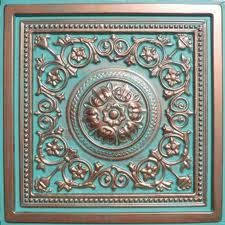 copper patina pressed tin