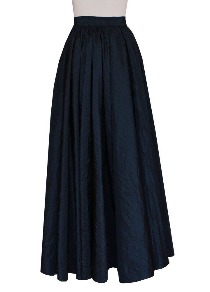 E K Women S Plus Size Long Full Circle Taffeta Skirt Maxi
