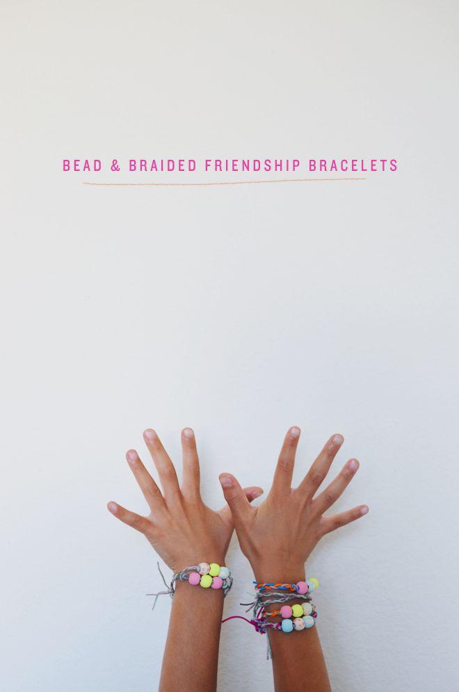 camp home: bead & braided friendship bracelets