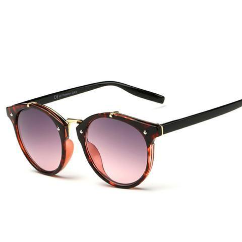 Vintage Round Sunglasses Women Eyewear UV400 Gradient Female Retro Sun Glasses