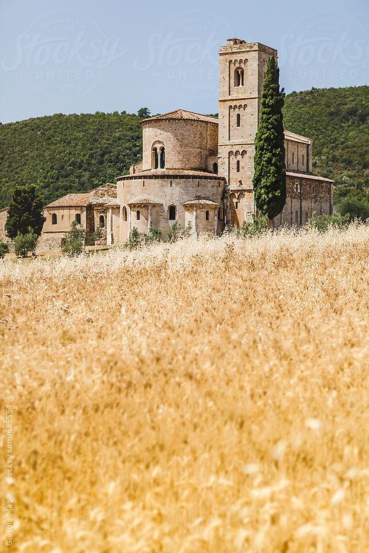 Abbey of Sant'Antimo in Montalcino - Tuscany, Italy