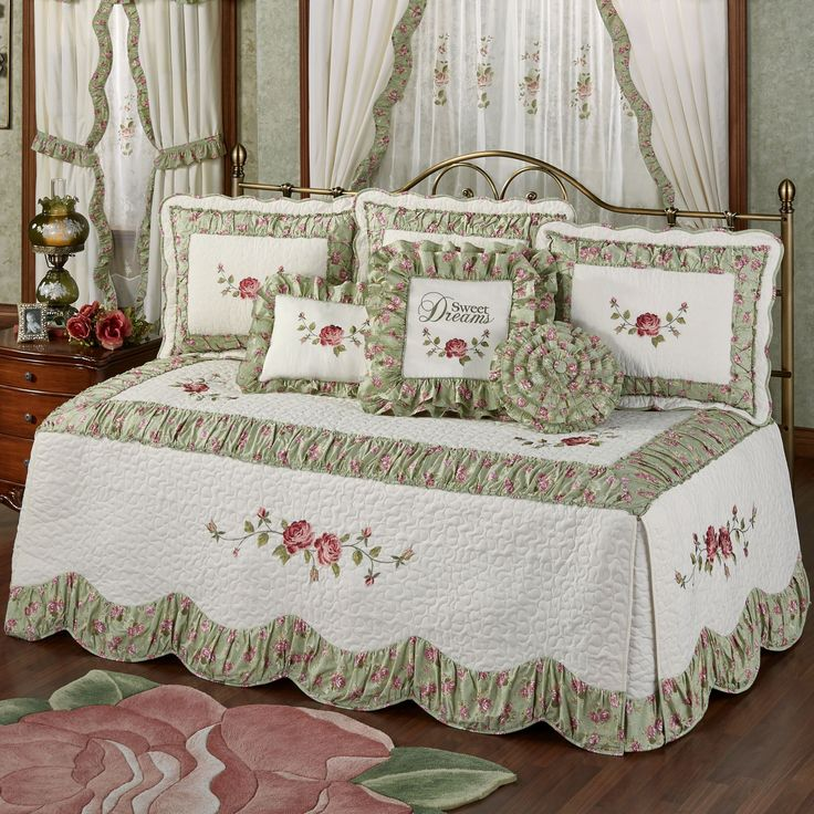 Cordial Garden 4 pc Floral Daybed Bedding Set