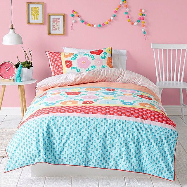 Cute & colourful, look out for this kids quilt cover!