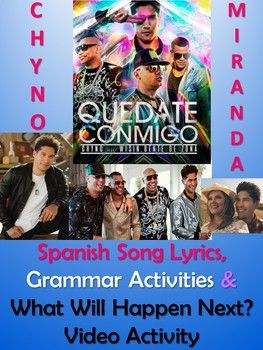 Quedate Conmigo Spanish Song Lyrics & Activities - Chyno Miranda - Musica