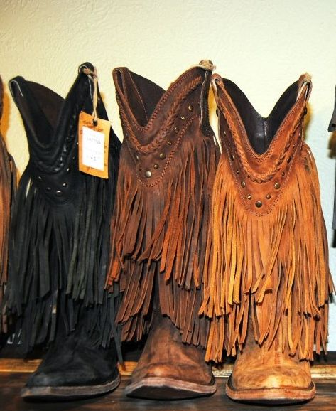 Liberty Black Fringe Cowboy Boots  Love them!!  Have the ones in the middle!