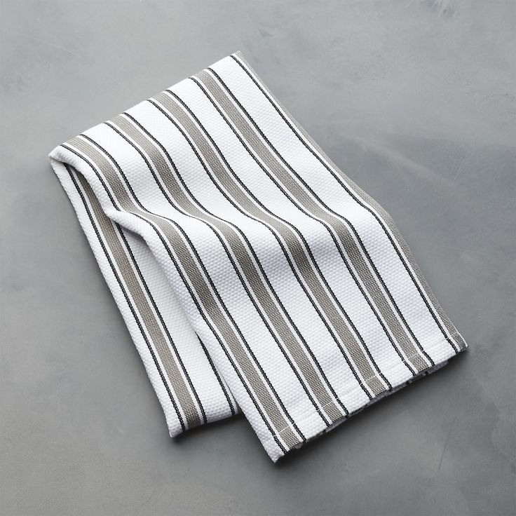Aster Stripe Dish Towel   Crate and Barrel