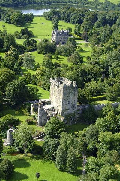 From the top of Blarney Castle you can see over 60 acres of beautiful, green Irish landscape.