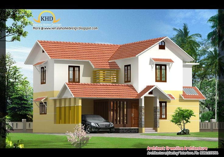 Beautiful homes beautiful villa elevations kerala home for Villa elevation design