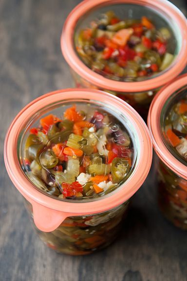 hot giardiniera pickled peppers recipe | use real butter | Canning and ...